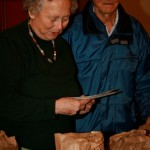 Jill Willmott and the late Dick Willmott getting labels organized Photo by Jan Mangan