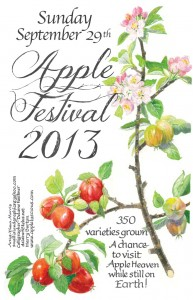 Salt Spring Apple Festival 2013 poster (12 by 18 inches)